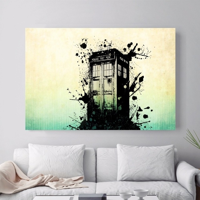 Doctor Who Police Box Artwork Canvas Art Print Painting Poster Wall Within Doctor Who Wall Art (Image 5 of 10)
