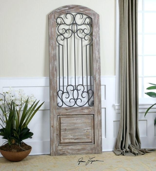 Door Wall Decor Shop For Uttermost Distressed Panel And Other Within Uttermost Wall Art (Image 3 of 25)