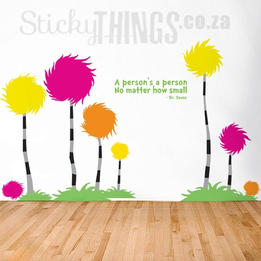 Dr Seuss Wall Art Decal – Truffula Treesstickythings.co (Image 5 of 20)
