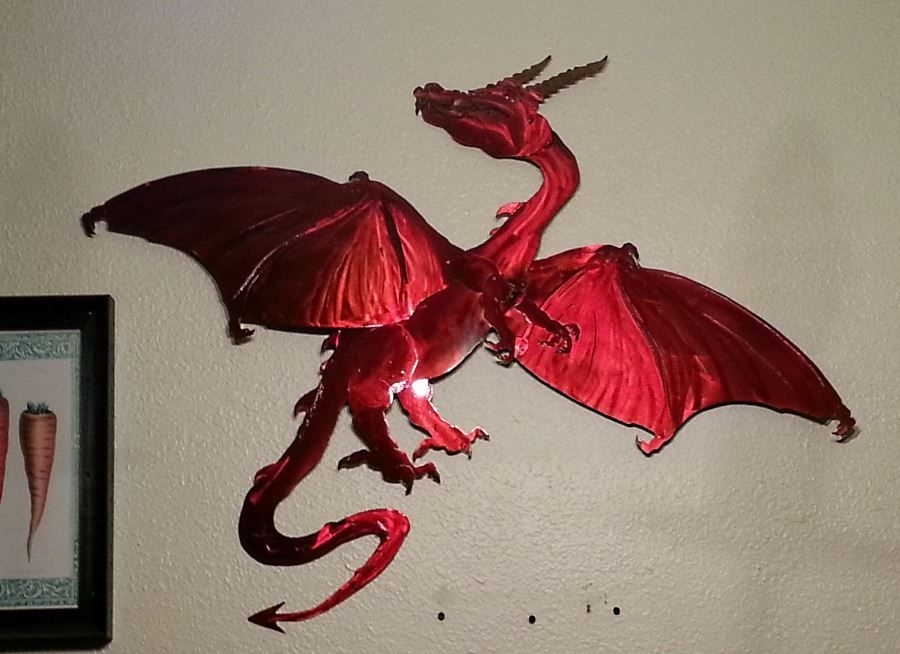 Dragon Metal Wall Art | Sevenstonesinc Intended For Dragon Wall Art (Image 10 of 25)