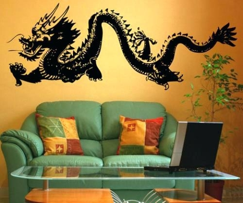 Dragon Wall Decal Game Of Thrones Inspired Dragon Wall Artbuy Inside Dragon Wall Art (View 13 of 25)