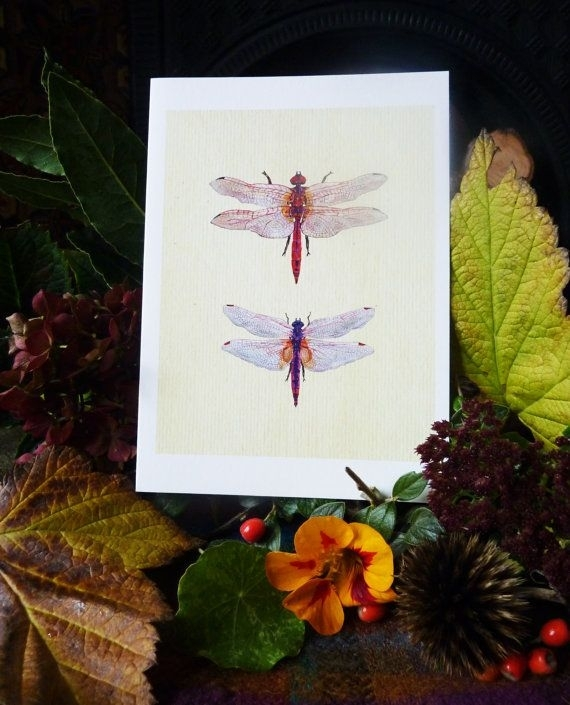 Dragonfly Picture Dragonflies Wall Art Dragonfly Painting Dragonfly Intended For Dragonfly Painting Wall Art (Image 11 of 25)