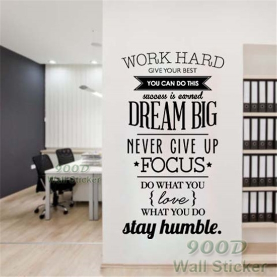 Dream Big Inspiration Quote Wall Stickers, Diy Home Decoration Wall In Home Decor Wall Art (View 19 of 20)