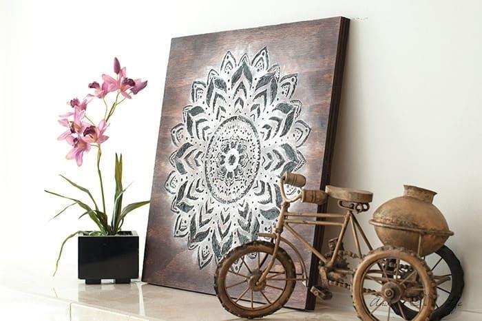Dremel Wood Carving – How To Make A Gorgeous Mandala Wall Art Throughout Mandala Wall Art (Image 3 of 25)