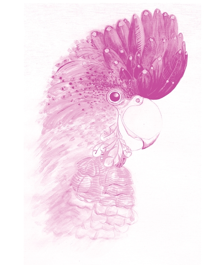 Dusty Pink Parrot Wall Art Print, Office Or Home Art, Wall Decor Inside Pink Wall Art (Image 9 of 25)