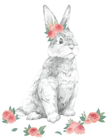 Dwpk2796 Tabitha The Bunny Wall Art Kitbrewster For Bunny Wall Art (Image 11 of 20)