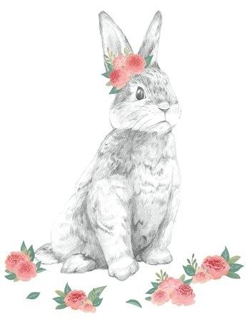 Dwpk2796 Tabitha The Bunny Wall Art Kitbrewster For Bunny Wall Art (View 14 of 20)