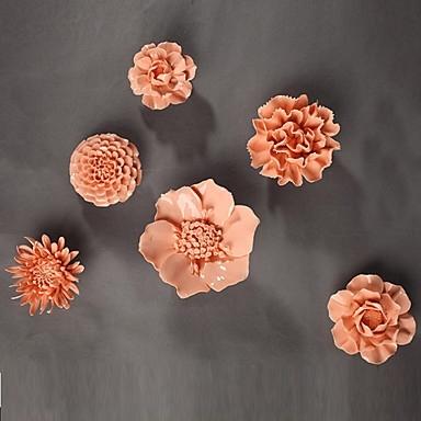 E Home® Ceramic Wall Art Wall Decor, Pink Flowers Wall Decor 4105552 Throughout Ceramic Wall Art (Image 12 of 25)