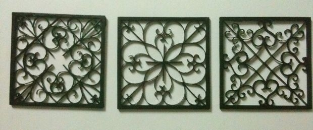 Easy Diy Iron Wall Art!: 6 Steps (With Pictures) For Wrought Iron Wall Art (Image 4 of 10)