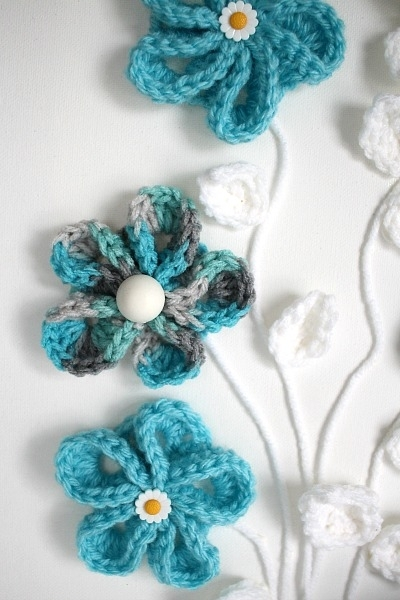 Easy Springtime Crochet Flower Wall Art | Grateful Prayer | Thankful Throughout Crochet Wall Art (Image 17 of 20)