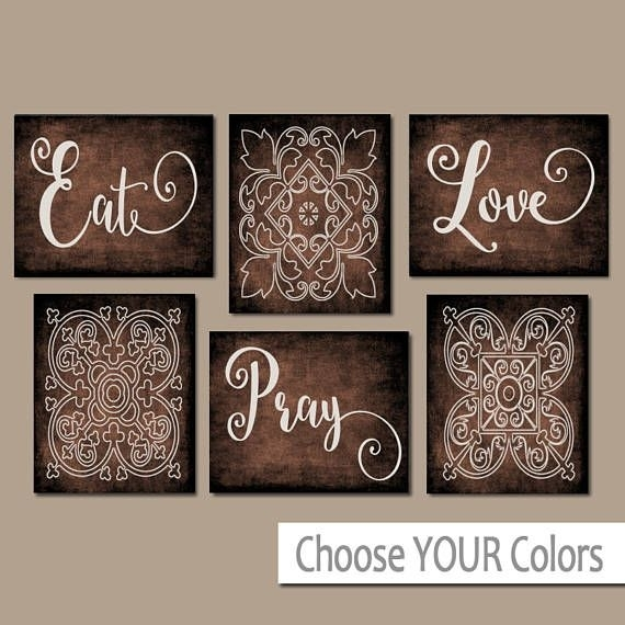 Eat Pray Love Kitchen Wall Art, Kitchen Canvas Or Prints, Dining Pertaining To Kitchen Canvas Wall Art Decors (Image 8 of 25)