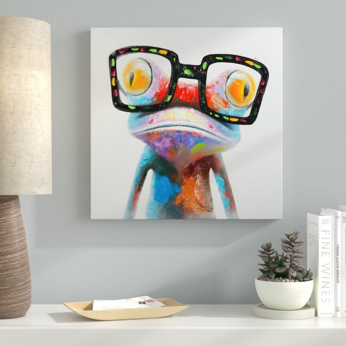 Ebern Designs 'amazing Gecko' Painting On Canvas & Reviews | Wayfair (View 6 of 20)