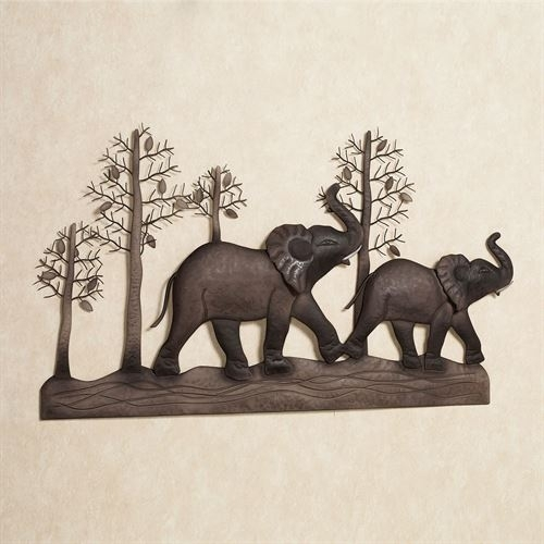 Elephant Metal Wall Art Pertaining To Elephant Wall Art (View 2 of 10)