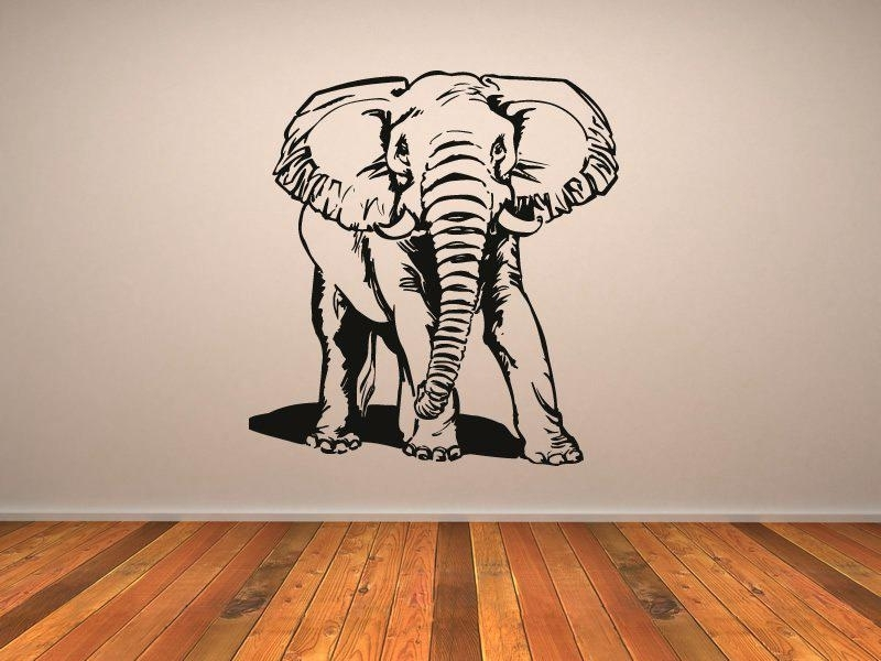 Elephant Wall Art Black And White Elephant Wall Art Canvas Print Within Elephant Wall Art (View 10 of 10)
