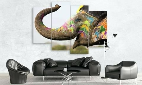 Elephant Wall Art Indian Elephant Canvas Wall Art Elephant Wall Art With Elephant Canvas Wall Art (View 13 of 20)