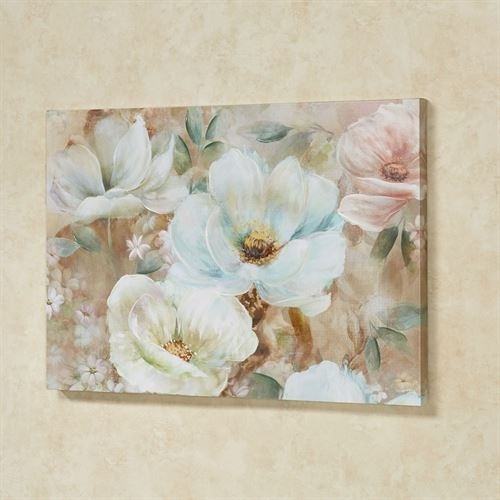 Enchanting Blooms Floral Canvas Wall Art Regarding Floral Canvas Wall Art (View 6 of 25)