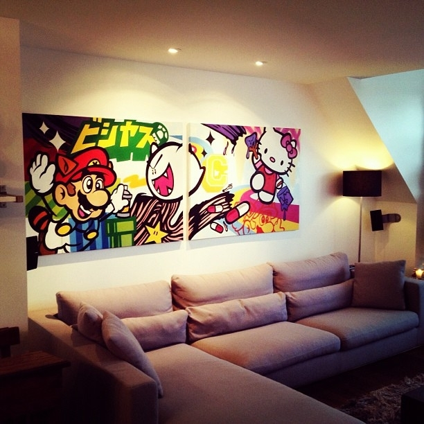 Enter In My World #jaekeldiablo #canvas#streetart #diptiqu… | Flickr Regarding Nintendo Wall Art (View 8 of 20)