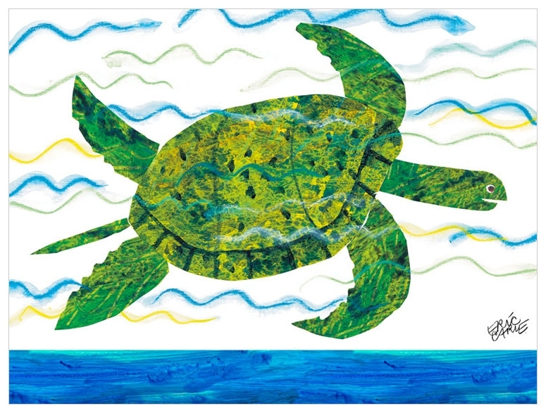 Eric Carle's Sea Turtle, Eric Carle Canvas Wall Art | Oopsy Daisy Intended For Sea Turtle Canvas Wall Art (View 8 of 25)