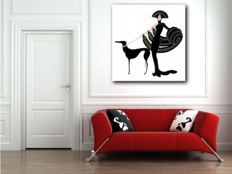 Erte Art Deco Canvas Giclee Art Print Home Wall Decor With Regard To Art Deco Wall Art (View 4 of 25)