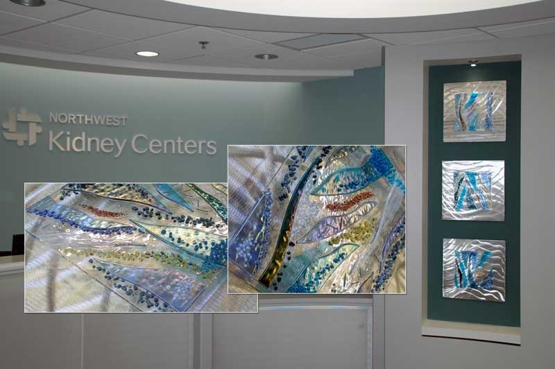 Evidence Based Design Fused Glass & Metal Wall Art, Glass Wall Art Throughout Glass Wall Art (Image 2 of 10)