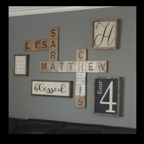 Excellent Best 20 Scrabble Wall Art Ideas On Pinterest Scrabble Wall Within Family Name Wall Art (View 8 of 20)