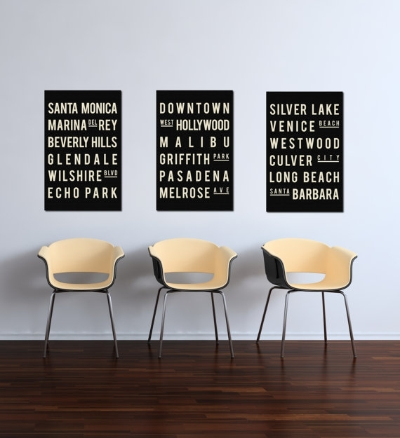 Excellent California Poster Print Los Angeles Wall Decor Los Angeles With California Wall Art (View 6 of 20)