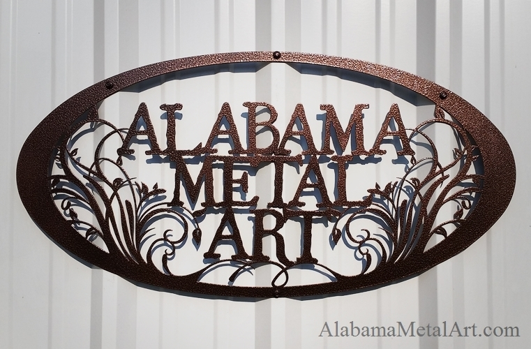 Excellent Wall Art Decor Business Alabama Custom Metal Wall Art Oval Throughout Personalized Metal Wall Art (Image 11 of 20)