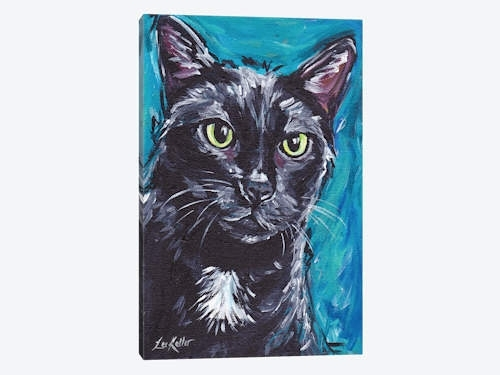 Expressive Black Cat Canvas Art Printhippie Hound Studios | Icanvas Regarding Cat Canvas Wall Art (View 18 of 25)
