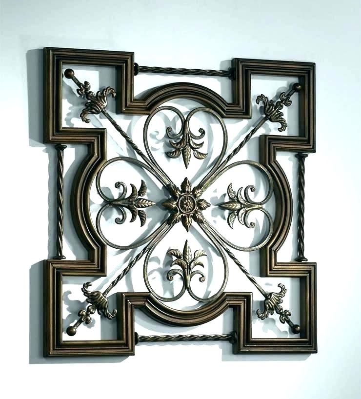 Extra Large Outdoor Wall Art Large Wrought Iron Wall Art Outdoor Pertaining To Iron Wall Art (Image 5 of 20)