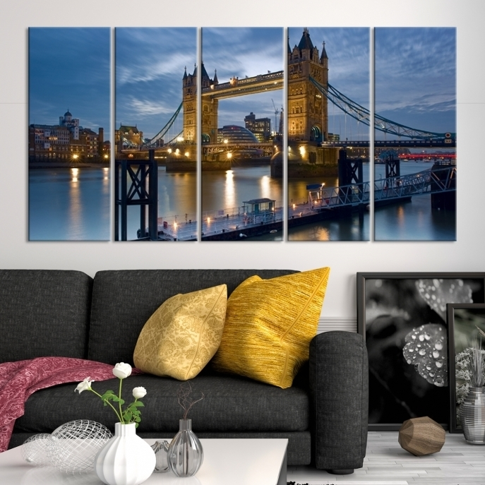Extra Large Wall Art London Canvas Print – London Tower Bridge Inside Extra Large Wall Art (View 15 of 20)