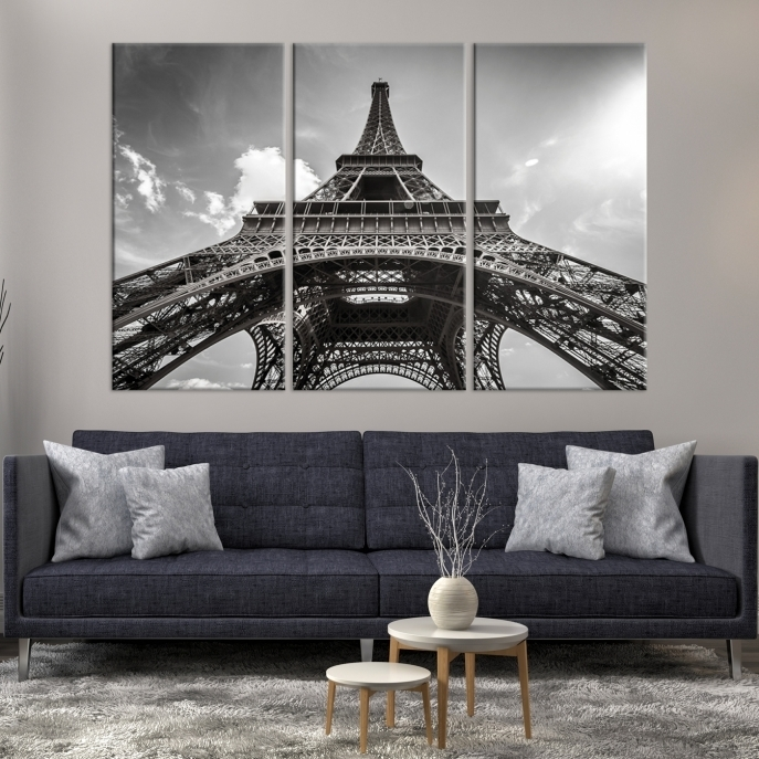 Extra Large Wall Art Paris Canvas Print – Black And White Below In Extra Large Wall Art (Image 10 of 20)