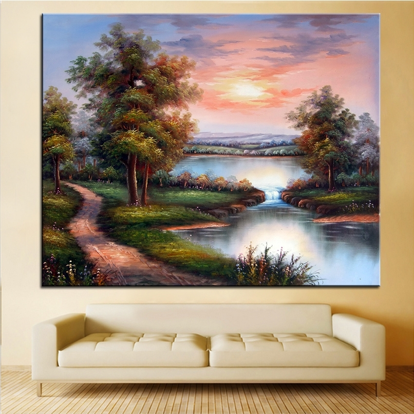 Extra Large Wall Painting Of Clouds Home Office Decoration Paint Regarding Large Framed Canvas Wall Art (View 12 of 25)