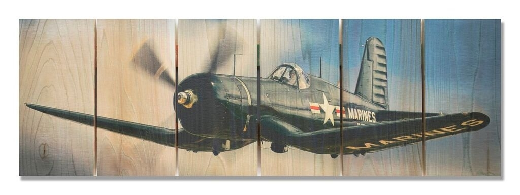 F4U Corsair Indoor Outdoor Art | Aviation Art | Airplane Wall Art With Airplane Wall Art (Image 15 of 20)
