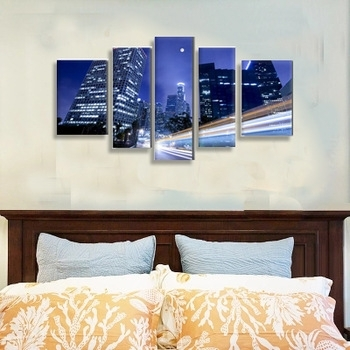 Factory Buy Direct 5 Piece Canvas Art From Reliable China,multi Throughout Multi Piece Wall Art (View 8 of 20)
