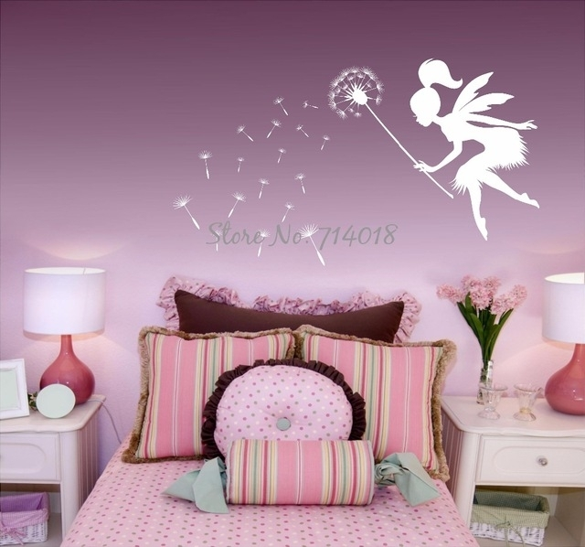 Fairy Blowing Dandelions Wall Decal Dandelion Seeds Wall Art Kids With Dandelion Wall Art (View 13 of 25)