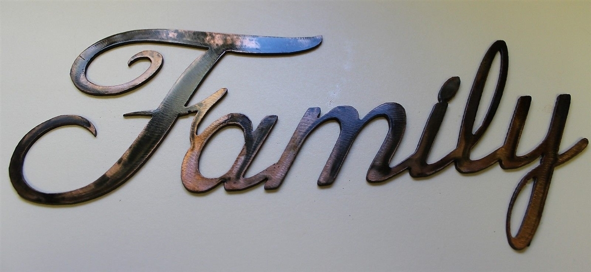 "Faith, Family, Friends"" Metal Art Words Within Family Metal Wall Art (View 2 of 10)"
