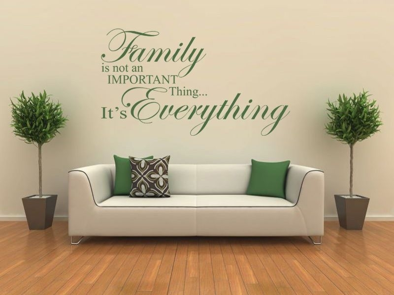 Family Is Everything – Wall Art Quote Wall Sticker Modern Vinyl Transfer In Wall Art (View 5 of 10)