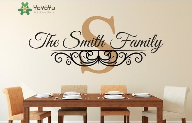 Family Name Established Date Personalized Monogram Wall Decal Living With Regard To Monogram Wall Art (Image 8 of 25)