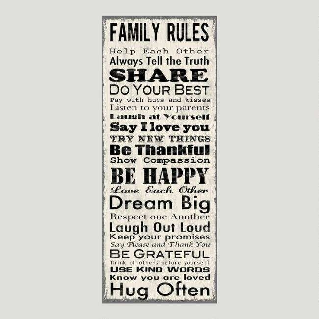 Family Rules Canvas Wall Art Beautiful Family Rules Canvas Wall Art Pertaining To Family Rules Wall Art (Image 5 of 20)