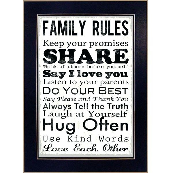 Family Rules Wall Art Like This Item Family Rules Wall Art Wood Regarding Family Rules Wall Art (Image 13 of 20)