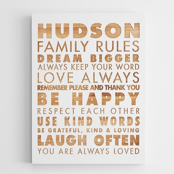 Family Rules Wall Art – Zauber With Regard To Family Rules Wall Art (Image 11 of 20)