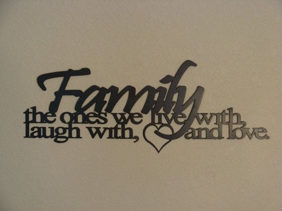 Family Ties Cnc Plasma Metal Word Art Wall Hanging | Pinterest Inside Family Metal Wall Art (View 4 of 10)