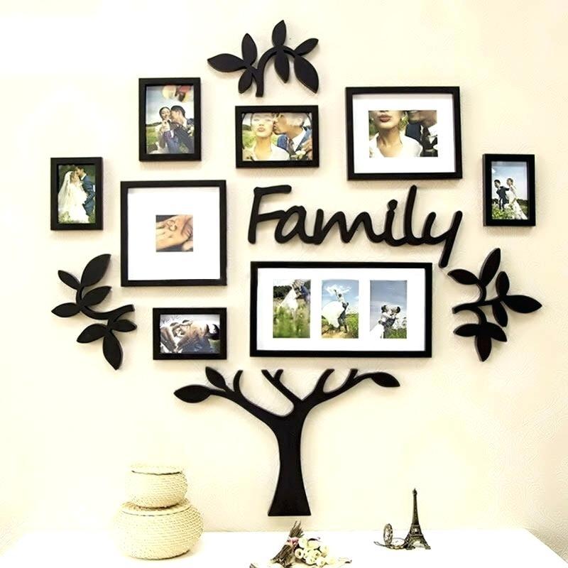 Family Tree Frame Set Frame Set Family Tree Acrylic Wall Art Regarding Acrylic Wall Art (Image 17 of 25)