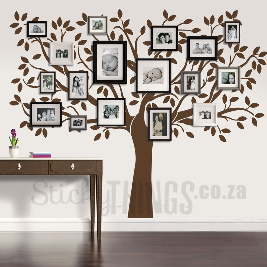 Family Tree Wall Art Decal – Stickythings.co (Image 4 of 10)