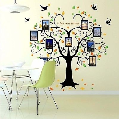 Family Tree Wall Decal Mural Sticker Diy Art Removable Vinyl Home Intended For Family Tree Wall Art (View 10 of 10)