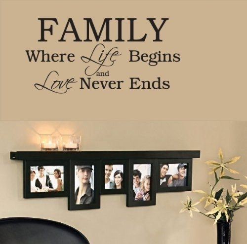 Family Wall Decals Beautiful Wall Art Sayings – Wall Decoration Ideas With Regard To Wall Art Sayings (Image 2 of 25)