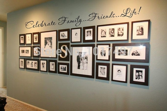 Family Wall Quote Decal For Photo Background Wall ,friends (View 5 of 10)