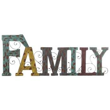 Family Word Metal Wall Decor | Hobby Lobby Throughout Family Metal Wall Art (View 6 of 10)
