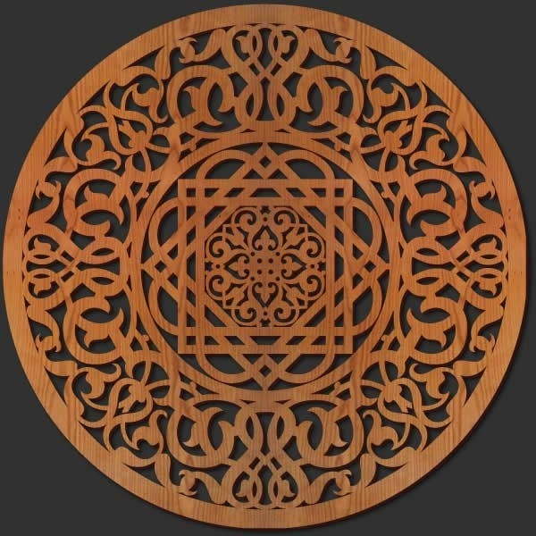 Fancy Wood Medallion Wall Art 11 For Japanese Metal Wall Art With Within Wood Medallion Wall Art (Image 4 of 25)