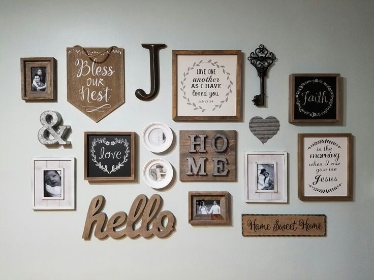 Farmhouse/rustic Inspired Gallery Wall (View 12 of 20)